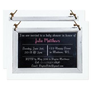 Simple Chalkboard Baby Shower Invitations