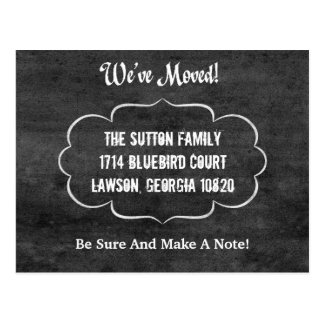 Simple Chalkboard New Address Moving Announcement Postcard