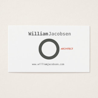 SIMPLE CIRCLE in GRAY Business Card