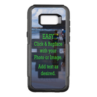 Simple Click and Replace Image to Create Your Own OtterBox Commuter Samsung Galaxy S8+ Case