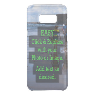 Simple Click and Replace Photo to Make Your Own Uncommon Samsung Galaxy S8 Plus Case