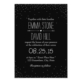 Simple Confetti Dots Wedding Invitations