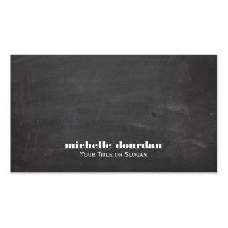 Simple Cool Chalkboard Rustic Unique Black Business Card Templates
