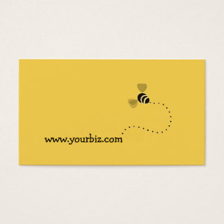 Simple Cute Biz Bee Graphic Design Business Card