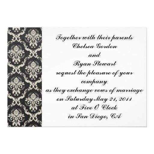 Simple Damask Invitation