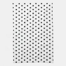 Simple Dots Black and White Polka Dot Design
