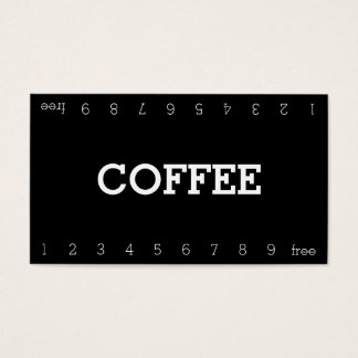Simple Double Number Loyalty Coffee Punch-Card Business Card