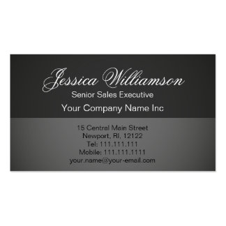 Simple Elegance Basic Gray Professional Pack Of Standard Business Cards