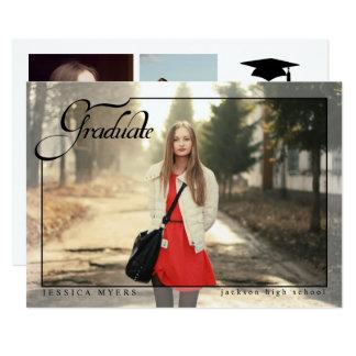 Simple Elegance, Graduation Photo Announcements