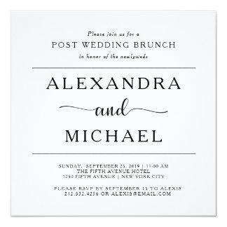 Simple Elegance   Minimalist Post Wedding Brunch Card