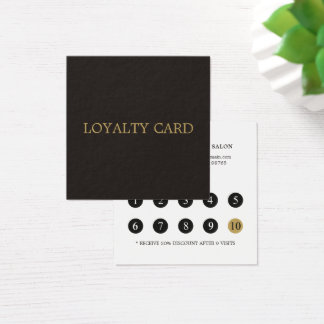 Simple Elegant Beauty Salon Loyalty Card