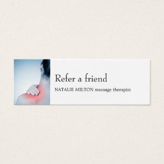 Simple Elegant Blue Massage Therapis Referral Card