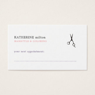 Simple Elegant Clean Hair Stylist Appointment Card
