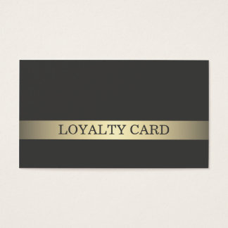 Simple Elegant Dark Faux Gold Stripe Loyalty Card