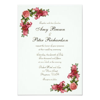 Simple Elegant Floral Wedding Invitation
