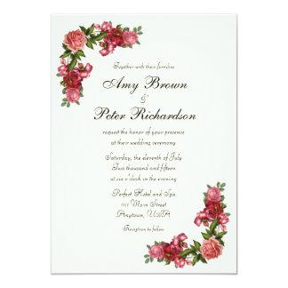 Simple Elegant Floral Wedding Invitation