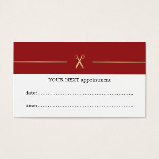 Simple Elegant Red Hair Stylist Appointment Card