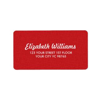 Simple Elegant Texture Red Label