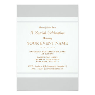 Simple Elegant Vintage Light Gray Professional 13 Cm X 18 Cm Invitation Card