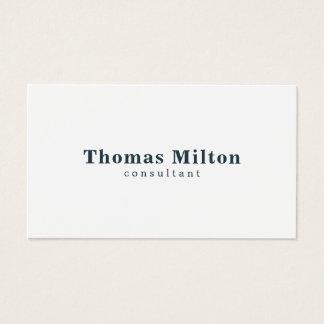 Simple Elegant White Blue Consultant Business Card
