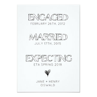 Simple Expecting Timeline Pregnancy Announcement