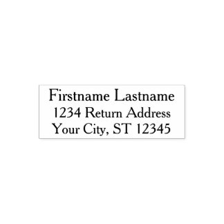 Simple Family Name and Return Address Self-inking Stamp