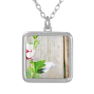 Simple Flower Silver Plated Necklace