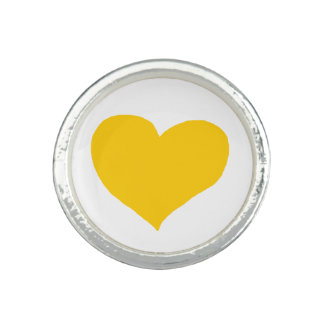 simple graphic yellow heart ring