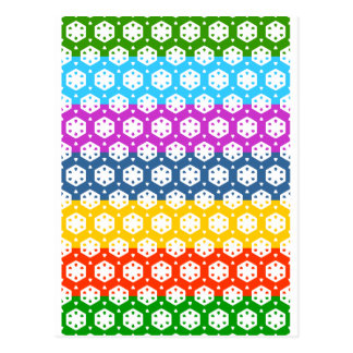 Simple Graphics - Exotic Happy Patterns Postcard