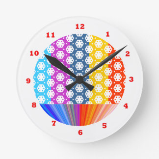 Simple Graphics - Exotic Happy Patterns Round Clock