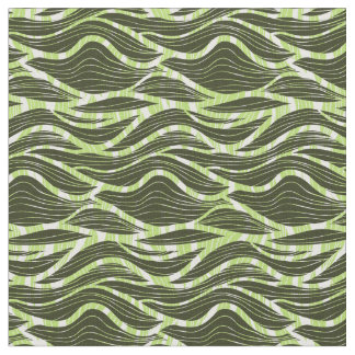 simple green waves pattern fabric