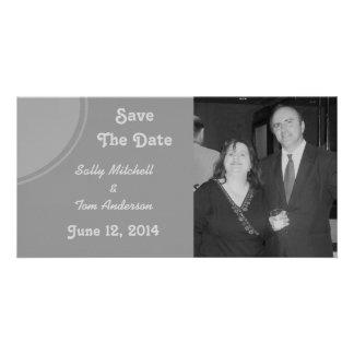 Simple Grey Modern Wedding Photo Card Template
