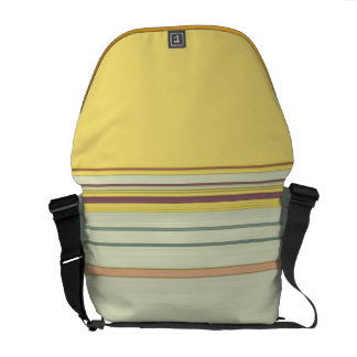 Simple Horizontal Striped - Yellow and Green Courier Bag