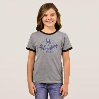 Simple Let the Adventure Begin | Ringer Shirt