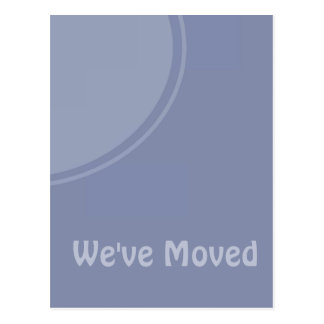 Simple light blue Weve Moved Announcement Postcard