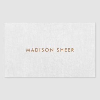 Simple, Light Gray Linen Minimalist Rectangular Sticker