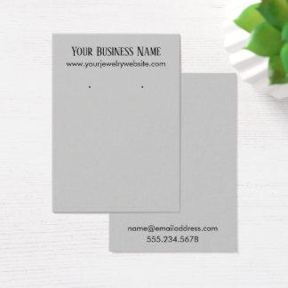 Simple Light Grey Earring Holder Display Cards