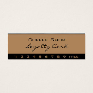 Simple Loyalty Gold Black Punch Card