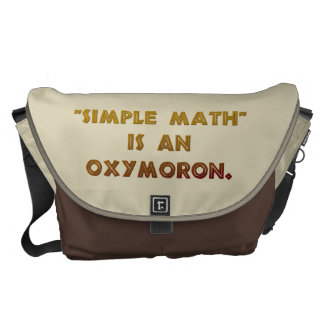 Simple Math is an Oxymoron Commuter Bags