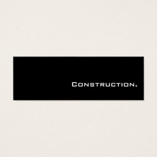 Simple Mini Construction Business Cards