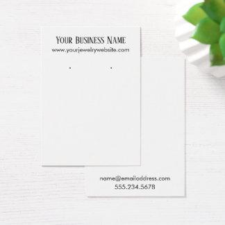Simple Minimal White Earring Holder Display Cards