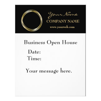 Simple Minimalist Gold Ring  Black Business LOGO 21.5 Cm X 28 Cm Flyer