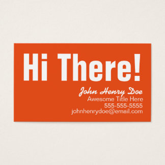 Simple Minimalist Orange & Aqua Business Card