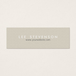 Simple Minimalistic Solid Beige Texture Mini Business Card