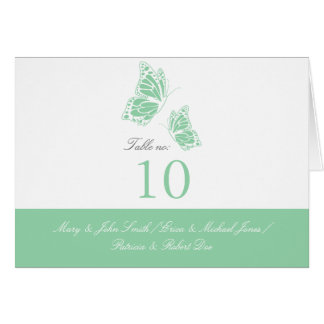 Simple Mint Green Butterfly Table Place Card