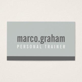 SIMPLE MODERN BAND minimalist masculine mono grey Business Card