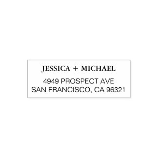 Simple Modern Elegant Wedding Return Address Stamp
