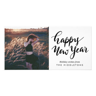 Simple Modern | Happy New Year Casual Script Card