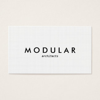 Simple modern white gray grid professional minimal business card