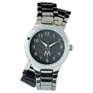 Simple Monogram Silver Watch